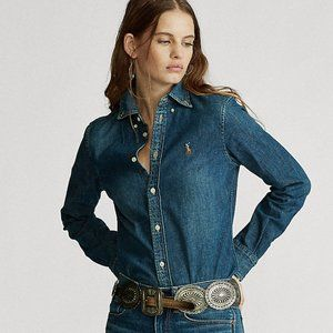 NWT! Polo Ralph Lauren Grey Denim Shirt